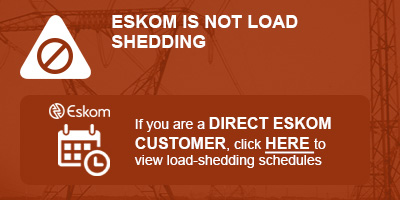 Load shedding schedules for DIRECT ESKOM CUSTOMERS